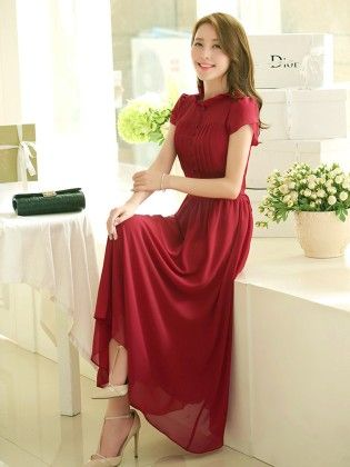 Women Chiffon Long Dress - STUPA FASHION