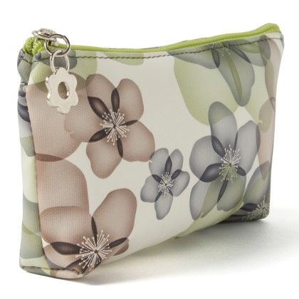 Green Flower Printed Pouch - Veribest