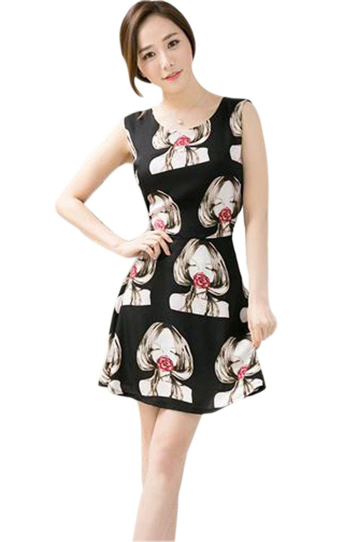 Flace Print Black Dress - Mauve Collection