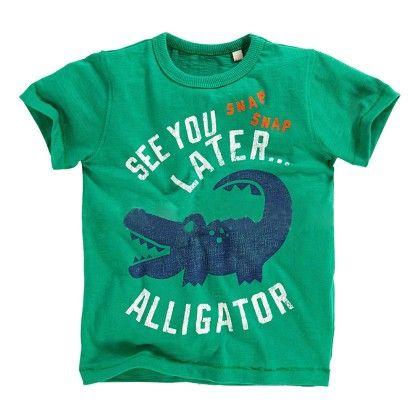 Green Alligator Half Sleeves T-shirt - Lil Mantra