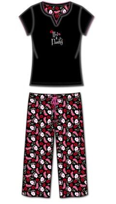 2 Pc Tshirt With Capri Pant Pj -multi - Rene Rofe