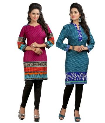 Combo Of Two Kurti Purple & Green - Brand Stand