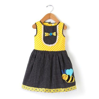 Yellow And Black Bee Dress - Sorbet