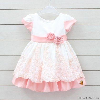 White Truffle Girls Dress - Little Muffet