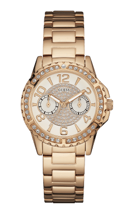 Guess Rose Gold Tone Sassy Watch - Guess Watches