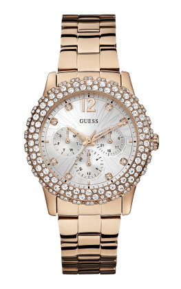 Guess Rose Gold Tone Dazzler Watch - Guess Watches