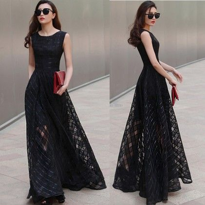 Vintage Long Beach Dress - STUPA FASHION