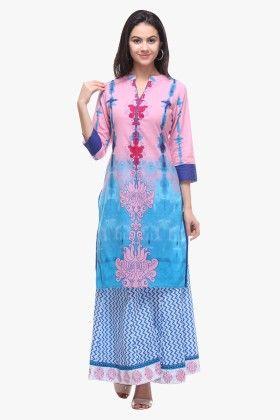 Cotton Cambric Printed Kurti - Riti Riwaz