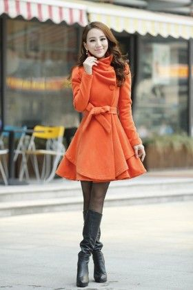 Beautiful Womens Winter Jacket Orange - Mauve Collection