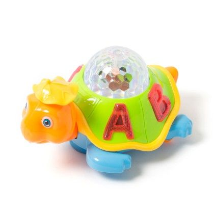 Happy Turtle With 3d Dream Lighting - Green And Blue - PlayMate