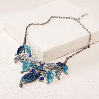 Peacock Blue Necklace Set - Dell's World