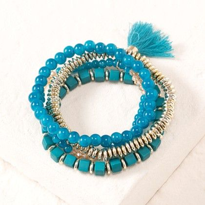 Blue Beaded Bracelet - Dell's World