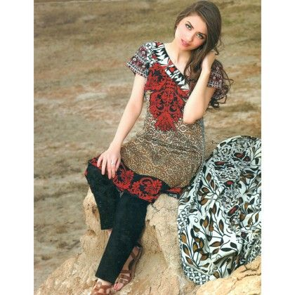Maroon & Red Cute Printed Semistitched Suit - Mauve Collection