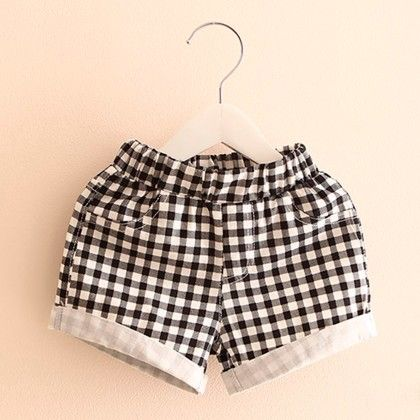 Black & White Checks Printed Shorts - Mangopanda