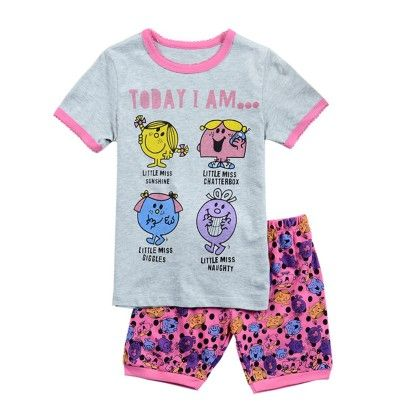 Pink Today I Am Print T-shirt & Short Set - Lil Mantra