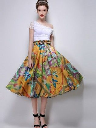 Vintage Style Ball Pleated Multi Skirt - Mauve Collection