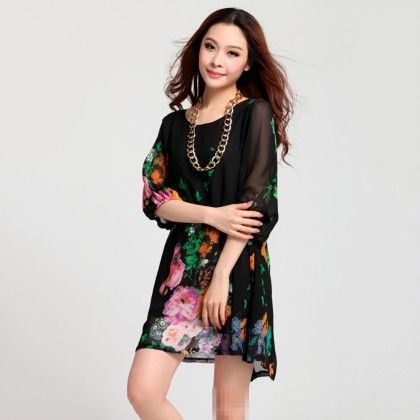Trendy Floral Printed Tunics - Mauve Collection