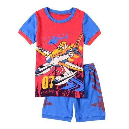 Red Pane Print Print T-shirt & Short Set - Lil Mantra
