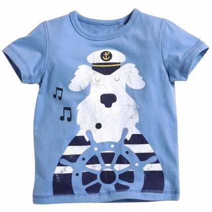 Blue Snowy Print Short Sleeves Tshirt - Lil Mantra