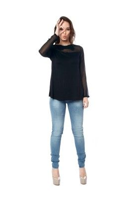 Flared Full Sleeves Top - Miss Pink