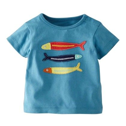 Blue Fish Short Sleeves Tshirt - Lil Mantra