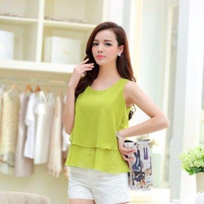 Green Layered Women Top - STUPA FASHION