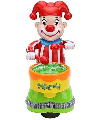 Clown With Drum Musical Toy - Red - PlayMate