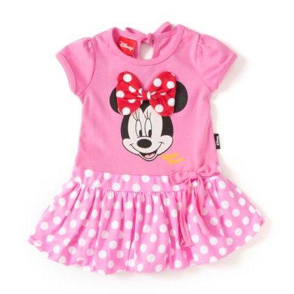 Pink Minnie Polka Print Dress - Cool Planet