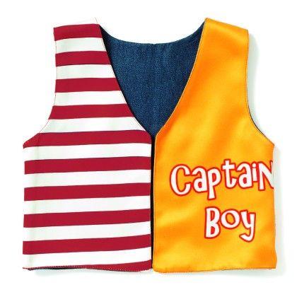 Captain Boy's Printed Jacket - Shor Sharaba