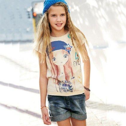 White Girls Short Sleeves Tshirt - Lil Mantra