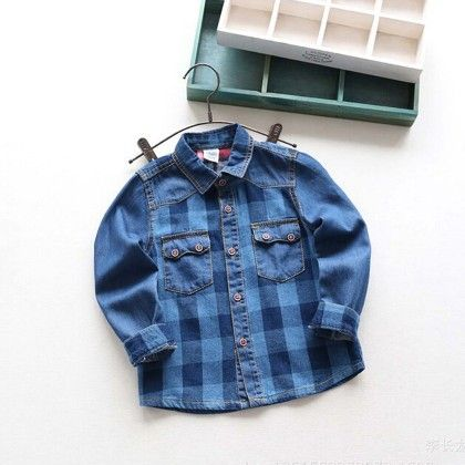Blue Checks Printed Shirt - Lil Mantra