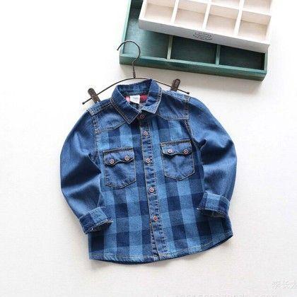 Blue Checks Printed Shirt - Lil Mantra