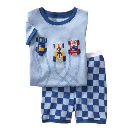 Blue Car Print T-shirt & Short Set - Lil Mantra