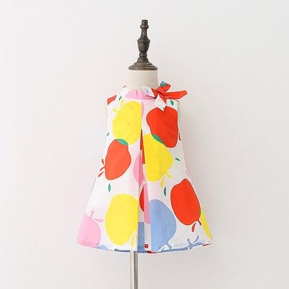 Multicolour Dot Print Dress - Lil Mantra