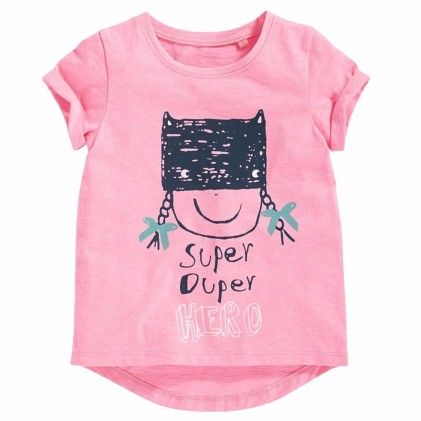 Pink Girl Print Short Sleeves Tshirt - Lil Mantra