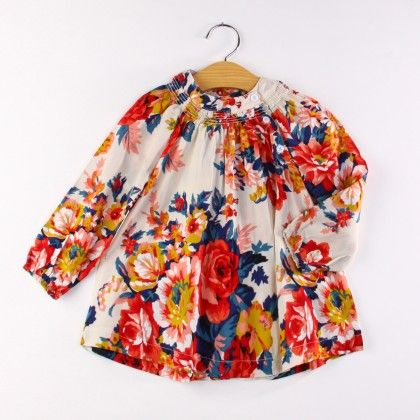 Multi Floral Print Dress - AWBOX