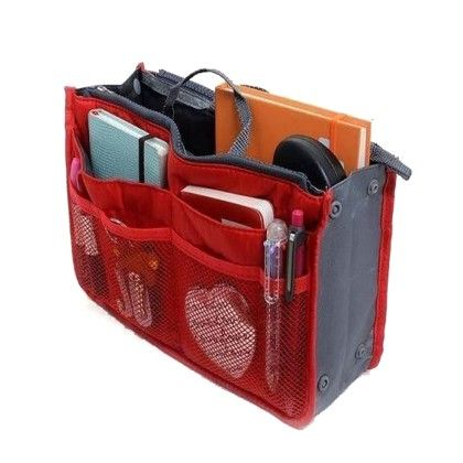 Red Multipurpose Handbag Organizer - Organization Collection