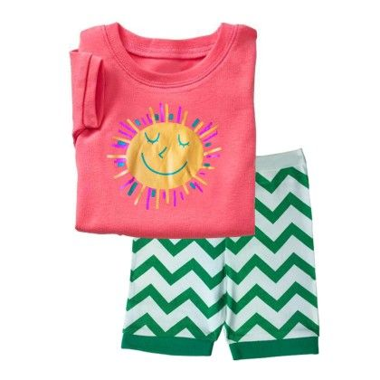 Pink Sun Print T-shirt And Short Set - Lil Mantra