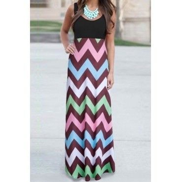 Beautiful Abstract Print Maxi Dress - Mauve Collection