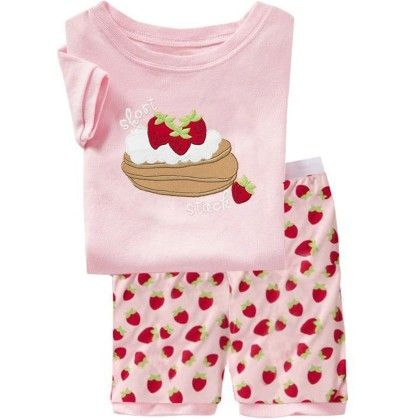 Pink Strawberry Print T-shirt & Short Set - Lil Mantra