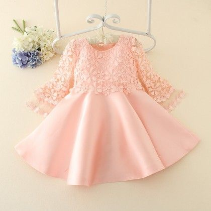 Pink Flower Girls Dress For Party And Wedding - Tulip