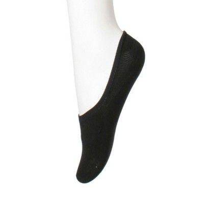 Ladies Cotton Foot Peds Pack Of 3 - Black - Next2skin