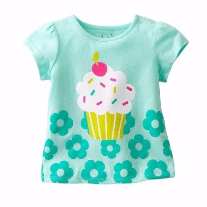 Green Ice Cream Print Short Sleeves Tshirt - Lil Mantra