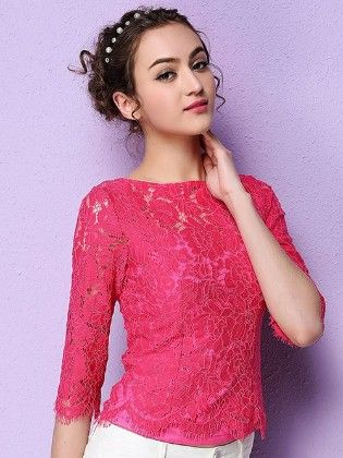 Pink Lace Beautiful Spring Summer Top - Mauve Collection