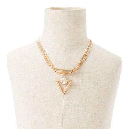 Neck Pice Tringular Pendant With One Round Diamond - Wilfred Jewellery