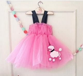 Pink Tulle Short Dress - Petite Kids