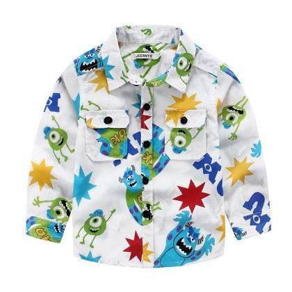 Multicolor Cartoon Printed Shirt - Lil Mantra