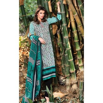 Blue & Grey Embroidered Summer Semistiched Suit - Mauve Collection