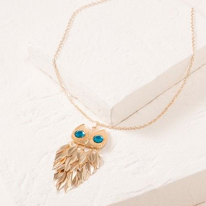 Blue Owl Necklace - Dell's World