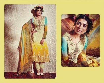 Unstitched Georgette Suits With Print Chiffon Duppatta - Mauve Collection